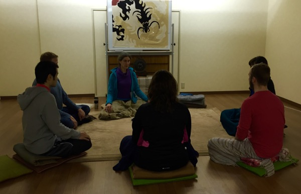 Meditating at CrossFit Kyoto